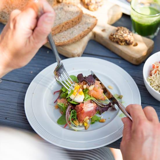 Mediterrane zalm salade